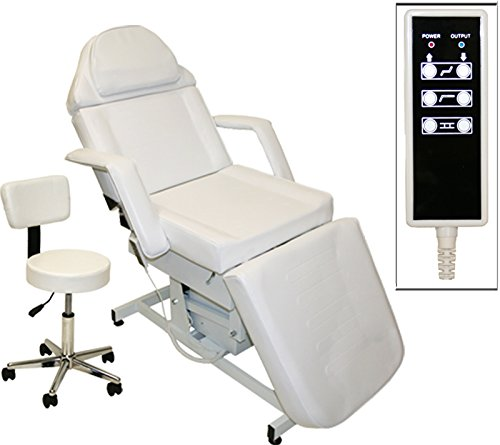 LCL Beauty Fully Electric Adjustable Facial Bed/Massage Table (White) ()