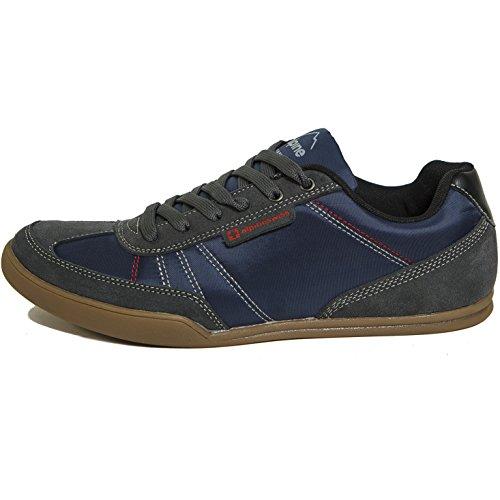 Alpine Swiss Marco Herren Retro Tennis Schuhe Wildleder Trim Fashion Sneakers Marine