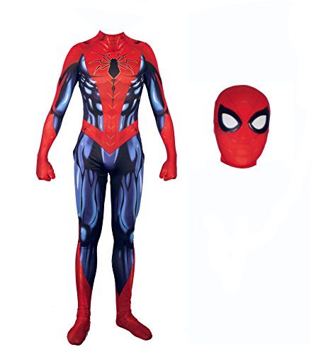 Alwoe Cosplay Costumes Halloween Lycra Spandex Unisex 3D Style (Kids-Large(130-140cm), Head Separation) ()