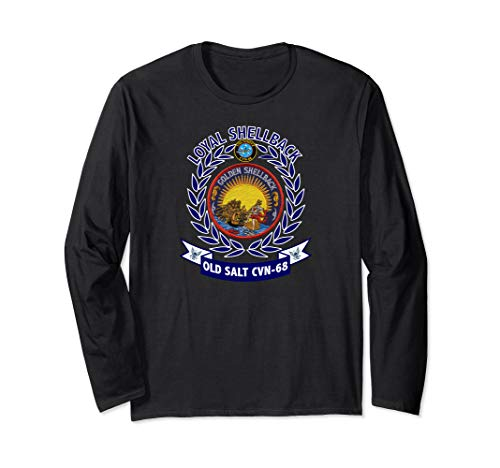 USS Nimitz CVN-68 Golden Shellback Logo Long Sleeve T-Shirt