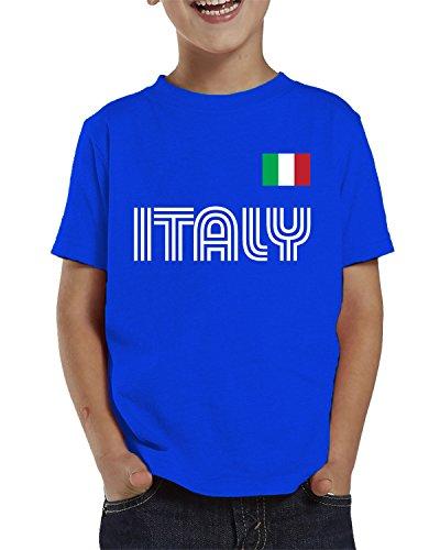 SpiritForged Apparel Italy Soccer Jersey Toddler T-Shirt, Royal 3T