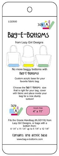 Purse Design - Lazy Girl Designs Bag-E-Bottoms Size A 4x11
