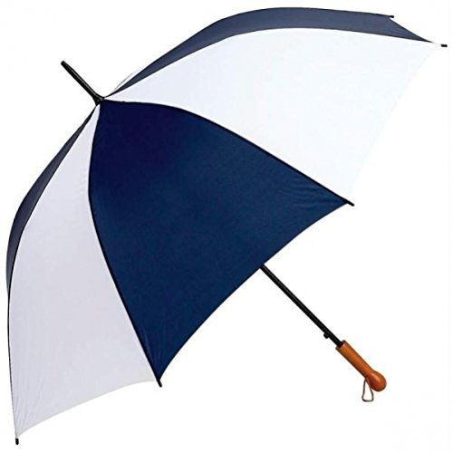 All-Weather GFUM60NWLT Elite Series Navy and White Auto Open Golf Umbrella, 60''