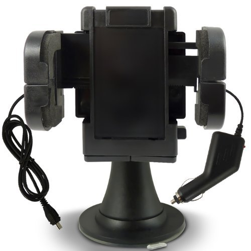 N4U Accessories Blackberry 9700 Bold Windscreen Mount Car Holder & Ce Approved Car Charger