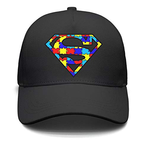 Blitzing Mens Baseball caps Autism Awarness Logo Trucker hat for Men Vintage dad hat for Women