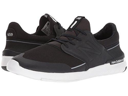 [new balance(ニューバランス)] メンズランニングシューズ?スニーカー?靴 AM659 Black/White 7.5 (25.5cm) D - Medium