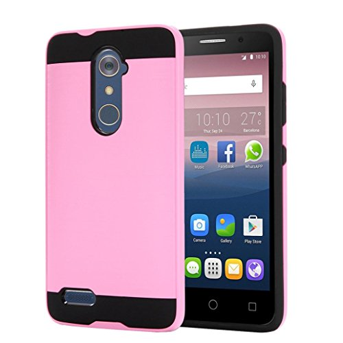 Price comparison product image For ZTE Zmax Pro Z981,GBSELL Brushed Hybrid Phone Cover Case For ZTE Zmax Pro Z981 (Pink)