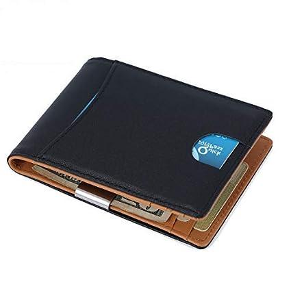 Cartera RFID para Hombre, Billetera RFID Monedero para Hombre y Seguro Billetera Delgada, Capacidad para Múltiples Tarjetas, Protector de Tarjeta de ...