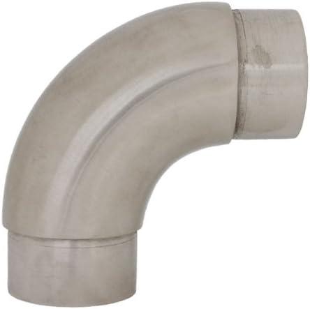 Edelstahldiscounter S014208 - Codo cilíndrico (acero inoxidable, 90°, por ejemplo para tubos de barandilla)