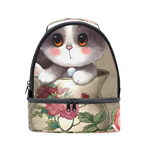 térmica correa almuerzo de Bolsa hombro ajustable gato para diseño el Alinlo con para el qxg5IwzzB