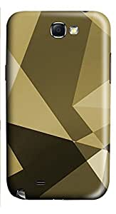 Samsung Note 2 Case Gold Shapes 3D Custom Samsung Note 2 Case Cover