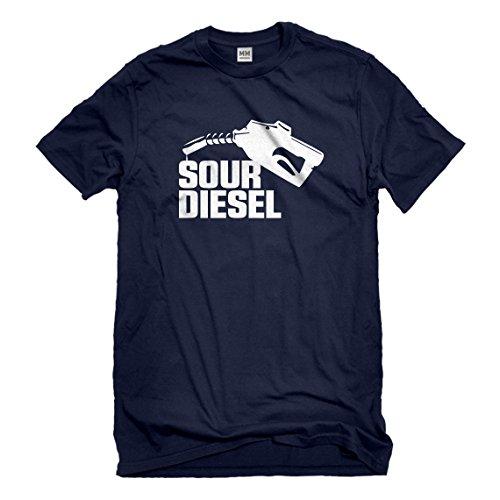 6 Oz No Iron (Mens Sour Diesel X-Large Navy Blue T-Shirt)
