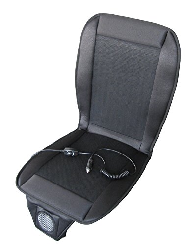 Seat Padded Fan - ABN Cooling Seat, Grey 12V, Portable, Adjustable Fan, Automotive Cooling Seat Cover