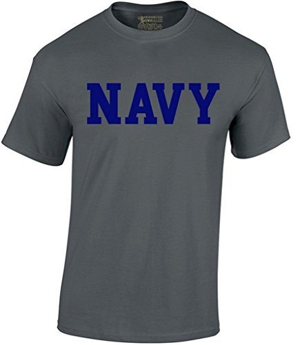 - Awkwardstyles Men's Navy T-Shirt Military Physical Training Shirt XL Charcoal