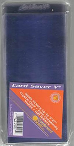 5 Currency (Cardboard Gold (1pk of 100) CS5 Card Saver 5 Pro Ticket and Currency submits ULTRA PROTECTION)