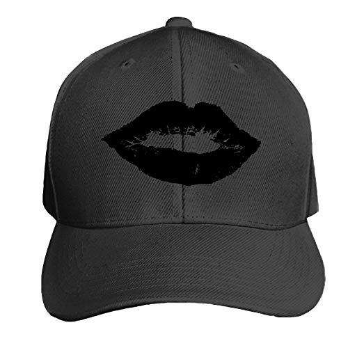 Affection Kiss Lady Lips Love Printed Sandwich Baseball Cap for Unisex Adjustable Hat]()