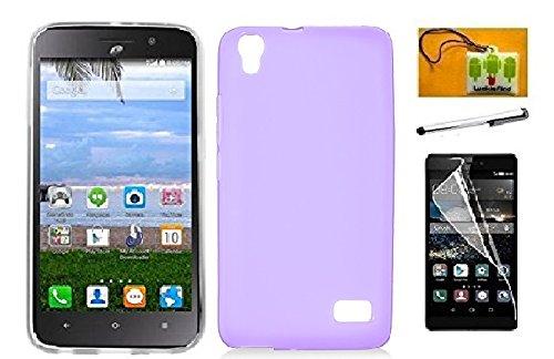 Huawei Pronto LTE H891L / G620 (Net 10, Straighttalk, Tracfone) LF 4 in 1 Bundle, Rubberized Slim Dual Layer Hybrid Cover Case, Stylus Pen, Screen Protector & Wiper Accessory (TPU Black)