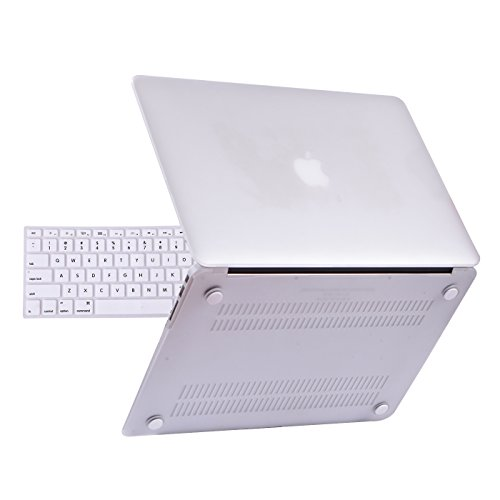 HDE MacBook Air 13 inch Case - Hard Shell Cover Keyboard Skin Fits Previous Generations A1466 A1369 (2008-2017) - ()