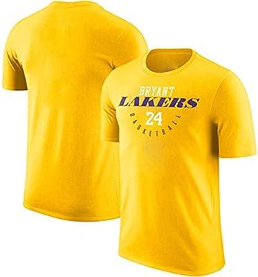 RENJUN Camiseta de Manga Corta de Baloncesto de los Lakers, Traje ...