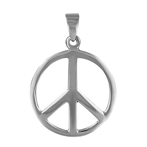 Large Silver Peace Sign - 1