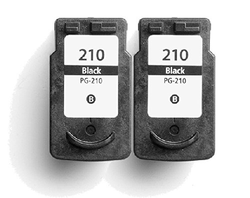 HouseOfToners Remanufactured Ink Cartridge Replacement for Canon PG-210 (2 Black, 2-Pack)