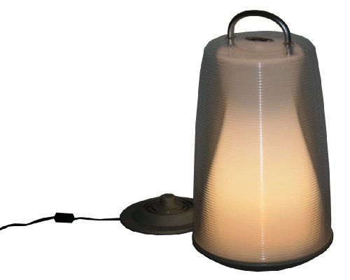 Table in a Bag LIG1507 Luau Light 17-Inch Rechargeable Portable LED White Lantern by Table in a Bag