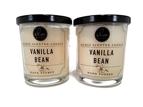 (Decoware Richly Scented Vanilla Bean Candle 4 oz-2 Pack)