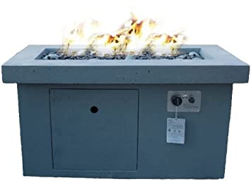 Urban Series Linear Electric Fire Pit Table Finish: Storm Gray