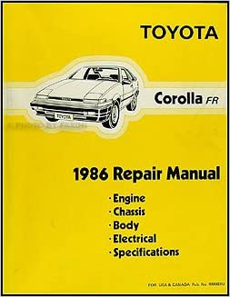1986 Toyota Corolla RWD Repair Shop Manual Original GT-S SR5: Toyota: Amazon.com: Books