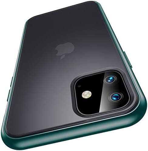 Meifigno Magic Series Compatible with iPhone 11 Case, [Military Grade Drop Tested], Translucent Matte PC with Soft Edges, Shockproof Phone Case Designed for iPhone 11 6.1 inch (2019), Green