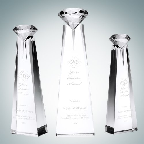 Diamond Goddess Crystal Award (Small) Prism Crystal Awards