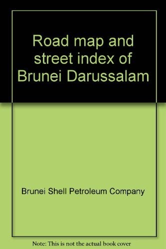 Road map and street index of Brunei Darussalam