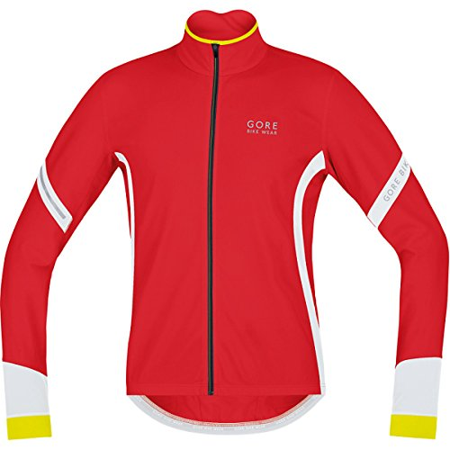 GORE BIKE WEAR, Men´s, Thermo cycling jersey, long sleeves, POWER 2.0 Thermal, Size S, Red/White, KMPOWE