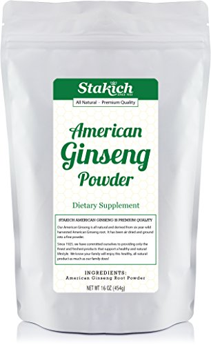 Stakich American GINSENG ROOT POWDER 1 LB - 100% Pure, Premium Quality, High Potency - ()