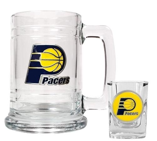 Nfl Glass Candy Jar - NBA Indiana Pacers Boilermaker Set - Primary Logo