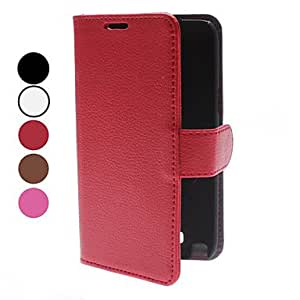 get Ultrathin Credit Card Wallet PU Leather Case with Stand for Samsung Galaxy Note 2 N7100 (Assorted Colors) , Red