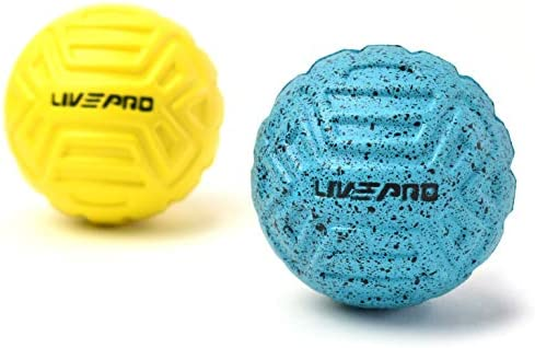 [スポンサー プロダクト]LIVEPRO マッサージボール ストレッチボール 2個セット ラクロスボール 筋膜リリース 足裏マッサージ 体幹トレーニング