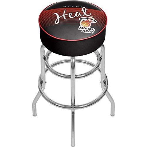 NBA Miami Heat Hardwood Classics Bar Stool, One Size, Chrome