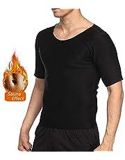 NOVECASA Camisetas Sauna Hombre Neopreno Body Shaper T-Shirt Transpirar para Sudoración Culturismo Quema Grasa Faja Abdome Adelgaza