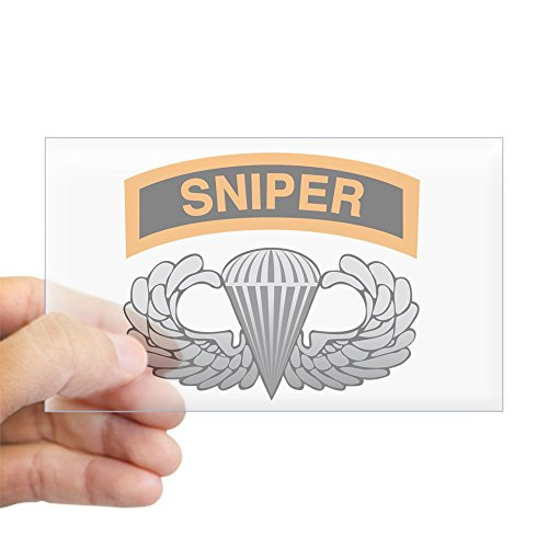 CafePress - Sniper Tab With Basic Airborn Rectangle Sticker - Rectangle Bumper Sticker Car Decal