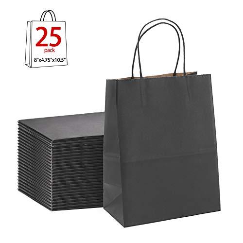 Black Gift Bags 8x4.75x10.5