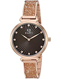 Women's Brillare Quartz Stainless Steel Strap, Rose Gold, 11.8 Casual Watch (Model: RB0207)