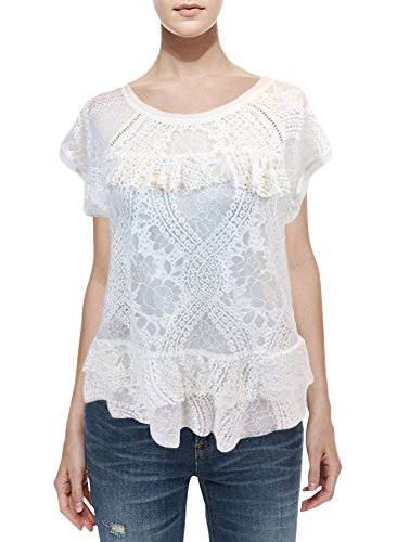 Xhilaration Women's Garden Collection White Lace Blouse (L) from Xhilaration