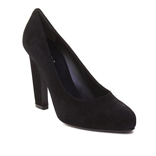Prada Women's Suede High Heel Pump Shoes (Prada Black Pumps)