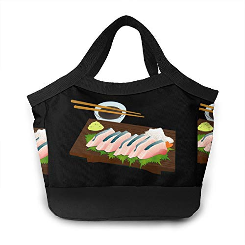 Chopsticks Sashimi Wasabi Sushi Lunch Bag Insulated Lunch Bag Leak Proof Lunch Tote Bag For Women Men Aduts Kids Work Hiking Beach Picnic Fishing Shopping School Camping