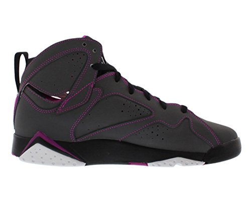 Nike Air Jordan 7 Retro 30th Gg, Zapatillas de Running para Mujer Gris / Blanco / Negro / Rosa (Dark Grey / White-Blck-Fchs Flsh)
