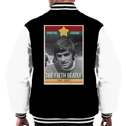 Sporting Legends Poster Ireland George Best The Fifth Beatle 1946 to 2005 Men's Varsity Jacket (Fifth Beatle George Best)