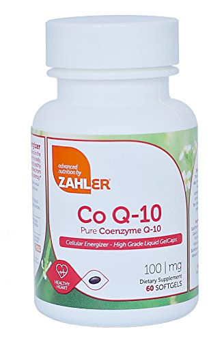 Zahler CoQ10, High Absorption Pure Coenzyme Q-10 Supporting Healthy HEART, Certified Kosher (60 Count)