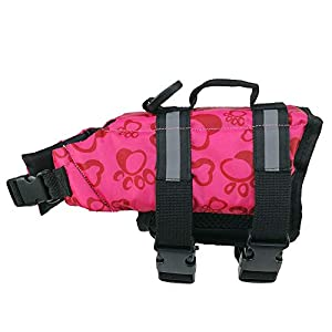 Reflective Pet Life Jacket Dog Swimsuit Outdoor Clothes Large, Medium and Small Dog Safety Clothing Dog Training Suit… Click on image for further info.