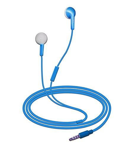 - Coby CVE-109-BLU Echo Earbuds with Built-In Mic, Blue